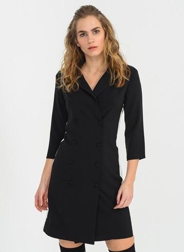 Kontrast Ceket Elbise-People By Fabrika